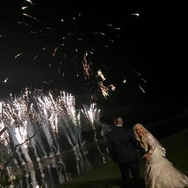 Fireworks During Wedding